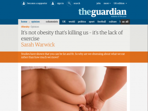 Guardian lack of exercise